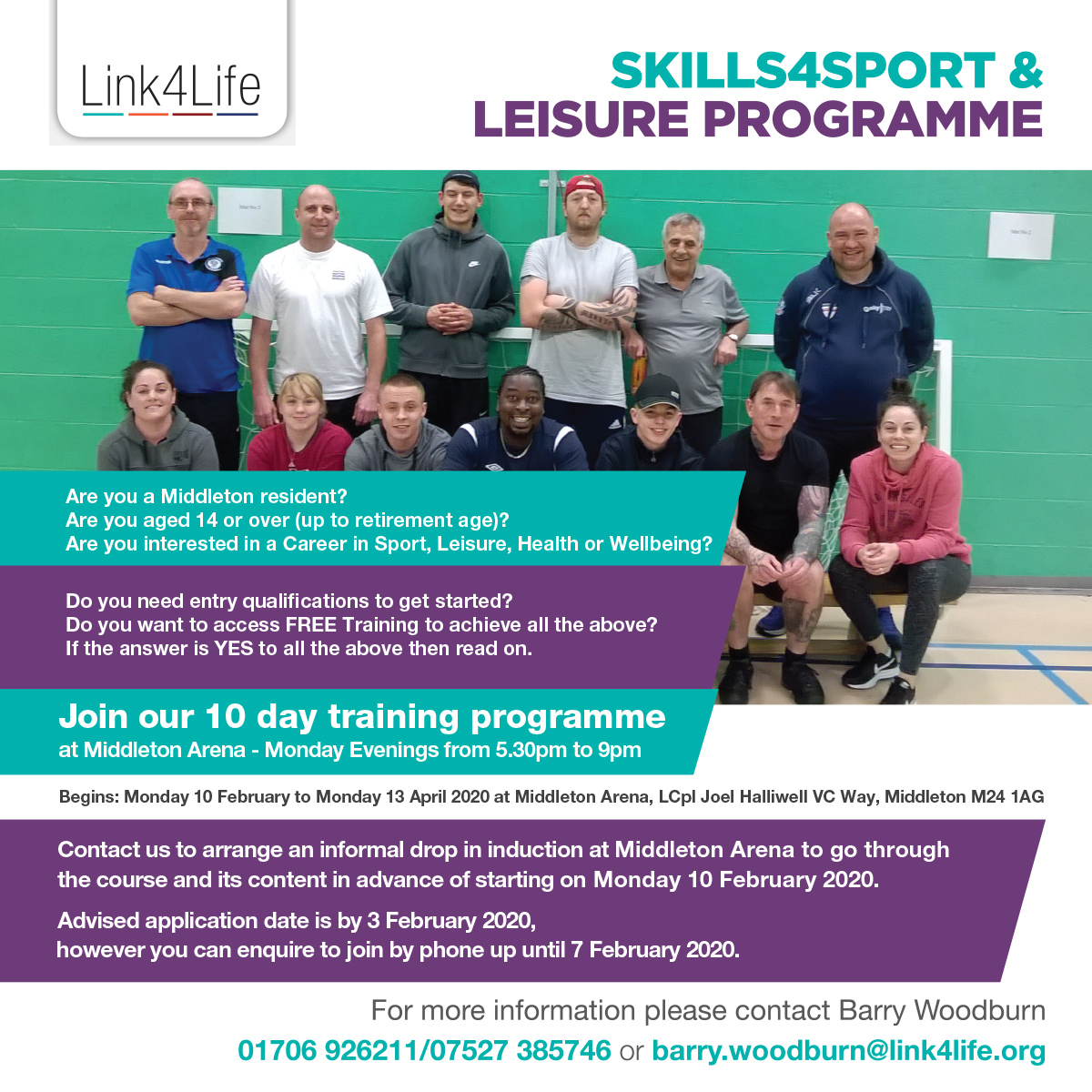 Skills4Sport and Leisure flyer